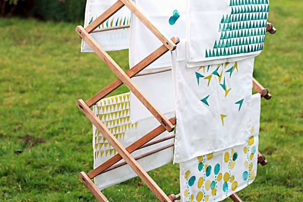 Make Your Own Gorgeous Geo Hand-Printed Tea-Towels