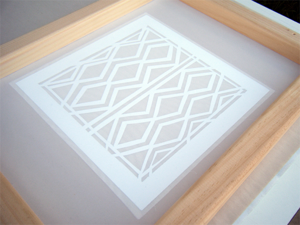 Lay your frame onto the stencil