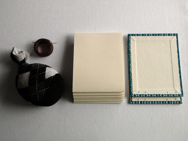 Book Cover Paper Weight ~ Create a stunning combination coptic long stitch archival book