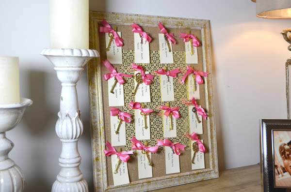 Create a Place Card Board With Vintage Keys for Your Wedding