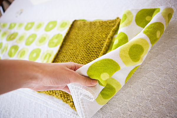 Block Knitting Fold Towel