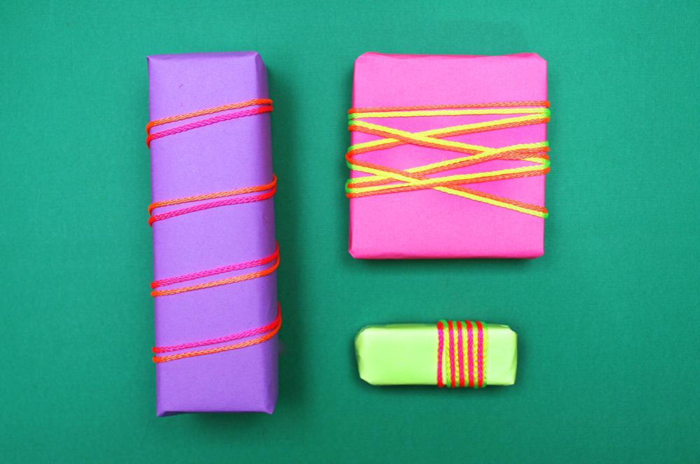 String gift wrap idea