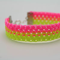 Neon knotted bracelet preview