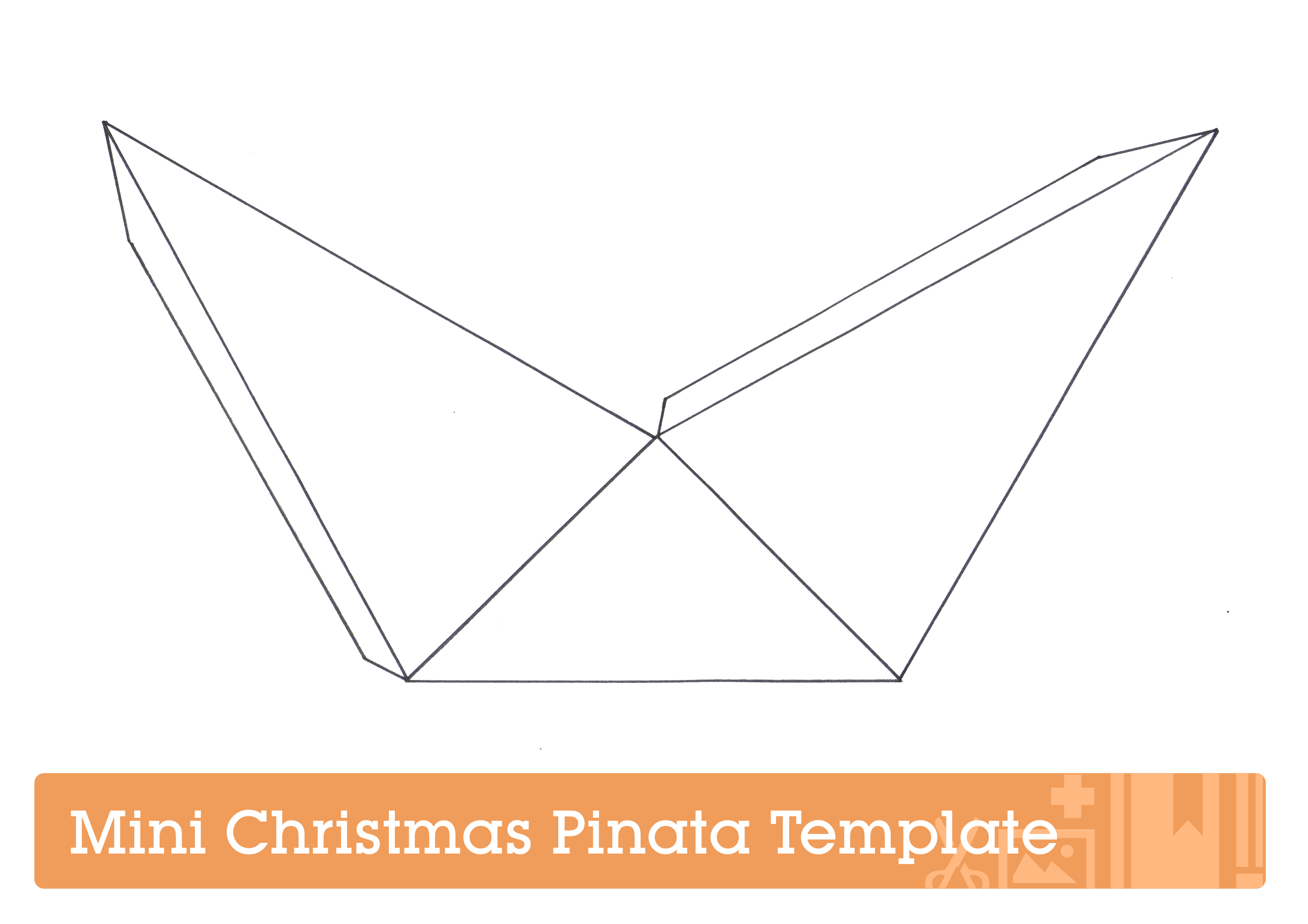 Piñata template for Mini Christmas Piñata