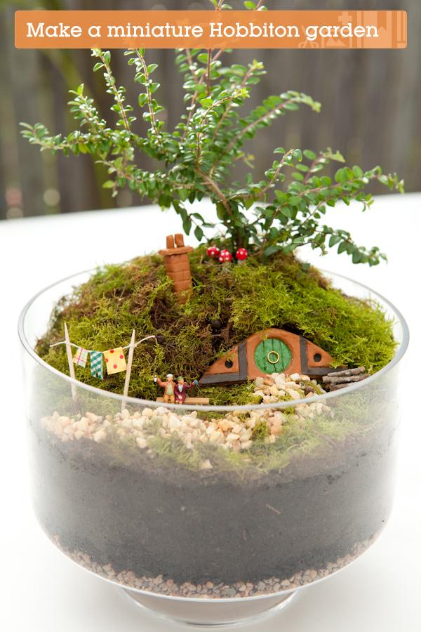 Make your own hobbiton miniature garden for How to make a miniature garden