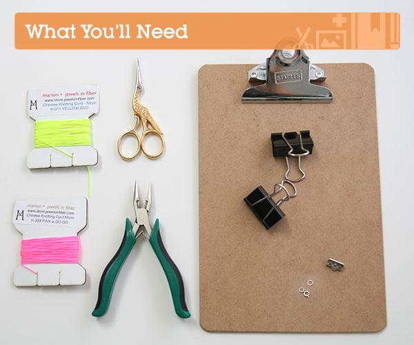 Make a neon knotted bracelet via Craftttus+