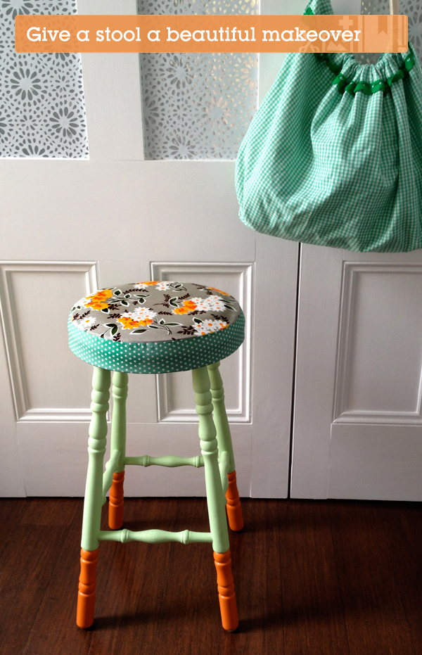 Give a Boring Old Stool a Beautiful Makeover