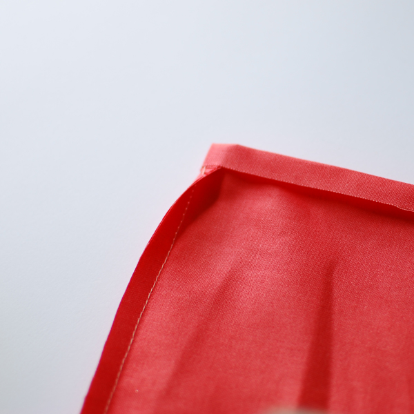 the red thread envelope clutch Step 5a
