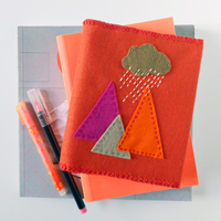 Makeover a Notebook With an Embroidered Felt Cover