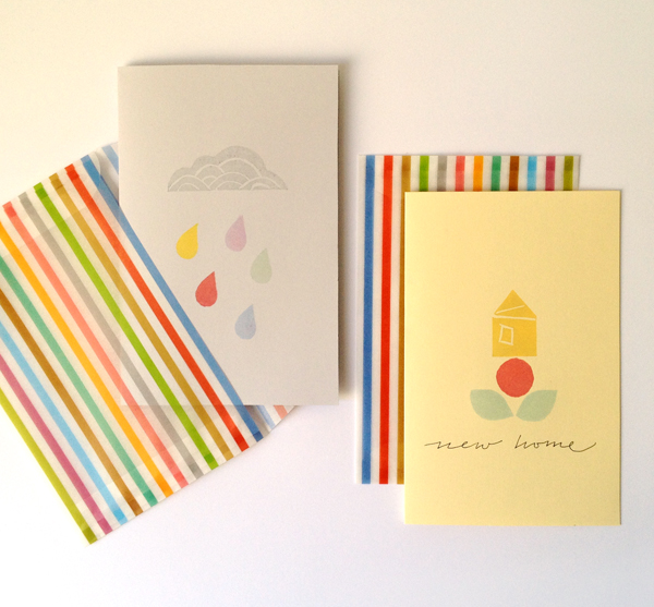 the red thread stamping - cards