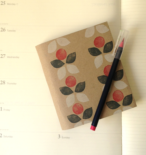 the red thread stamping - notebook