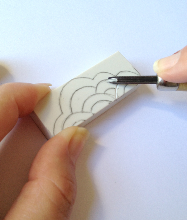 the red thread stamping - step3
