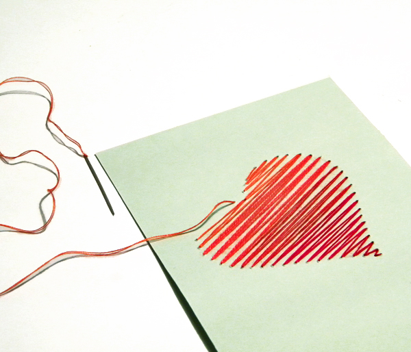 Create a beautiful hand embroidered valentine s day card