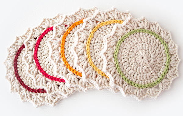 Make a Set of Five Ombre Crocheted Coasters - Tuts+ Crafts & DIY ...