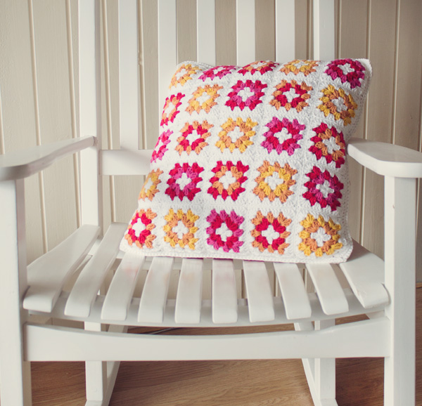 Crochet A Gorgeous Granny Square Cushion Cover