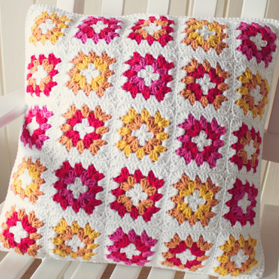 Preview for Crochet a Gorgeous Granny Square Cushion Cover