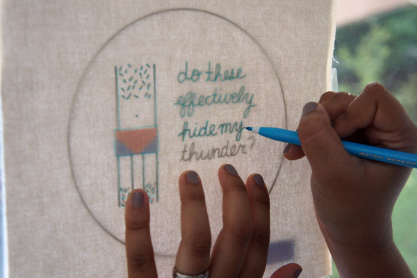 Fan of arrested development make this awesome embroidery
