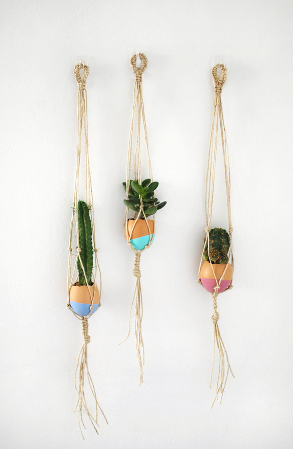 Make Your Own Mini Macrame Succulent Egg Decorations For