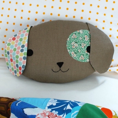 Sew A Cute Puppy Pillow Softie : Transform an Old Sweater Into an Adorable Bunny Softie for Easter - Tuts+ Crafts & DIY Tutorial