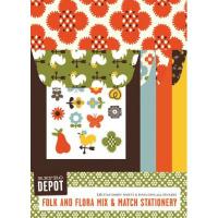 Reprodepot Folk Flora Mix 'n' Match Stationery