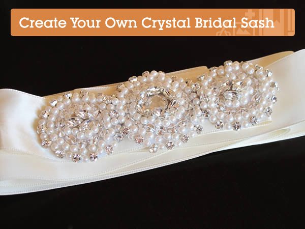 Create your own stunning crystallized bridal sash and now comes the fun part creating your dream wedding there are loads of accessories to think about from your veil and shoes to your headpiece and solutioingenieria Choice Image