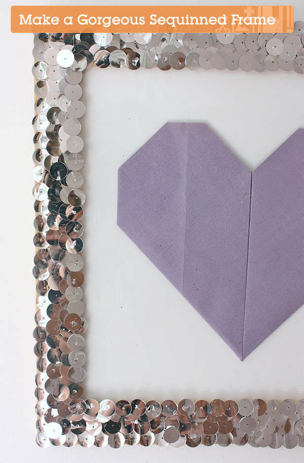 Quick Tip: Make a Gorgeous Sequinned Frame
