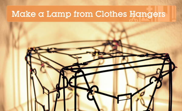 Make An Amazing Cube Lamp With 24 Humble Clothes Hangers