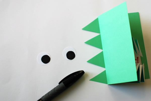Origami Dinosaur Invite Step 23