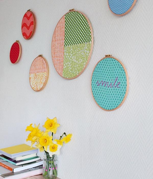 Simple final hoop wall art final