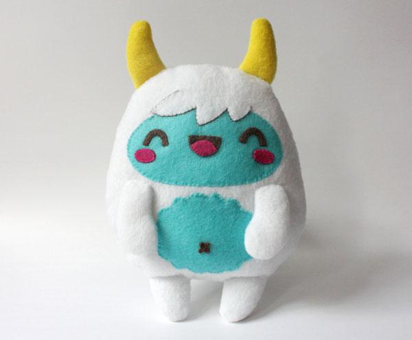 How to Make a Kawaii Yeti Monster Plush Softie X Babies Nightcrawler