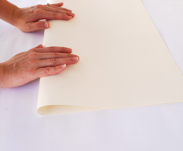 take a piece of paper and gently begin to bend it one way