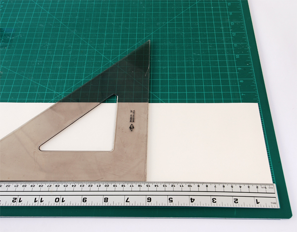 Cut the strips into 1524cm sheets