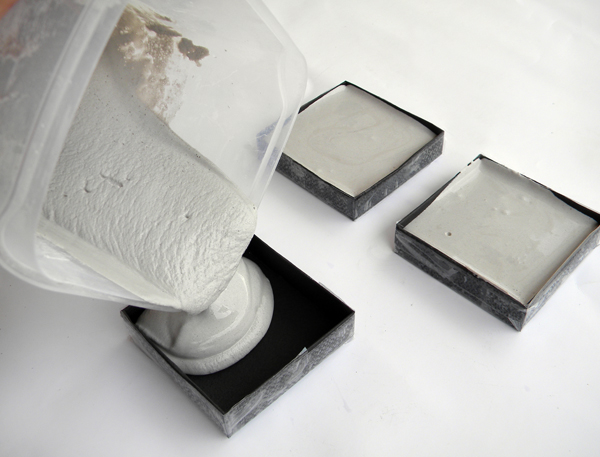 How to make industrial style geo cement coasters for How to make concrete coasters