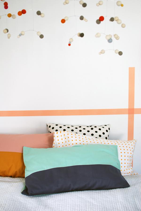 Sew a Beautiful Colour-Block Pillowcase in Less Than an Hour