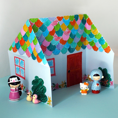 Origami dolls house 400