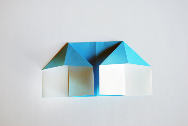 Make An Adorable Origami Doll House