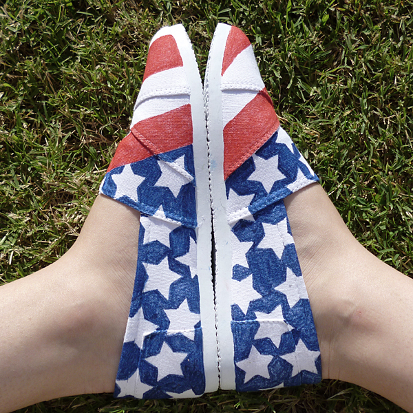 4th of July Decorated Shoes Tutorial