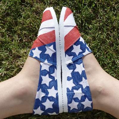 400px american flag shoes