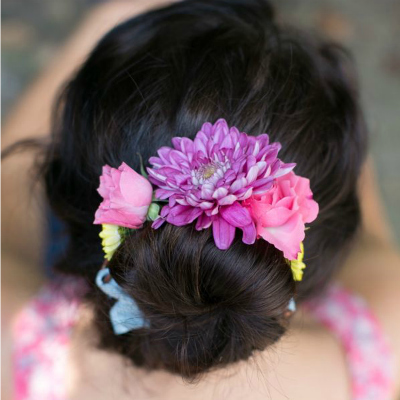 Preview for Make a Beautiful Fresh Flower Wrap for Your Bun