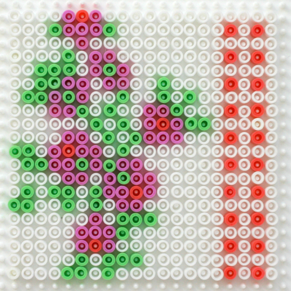Hama bead vintage fabric coaster tutorial
