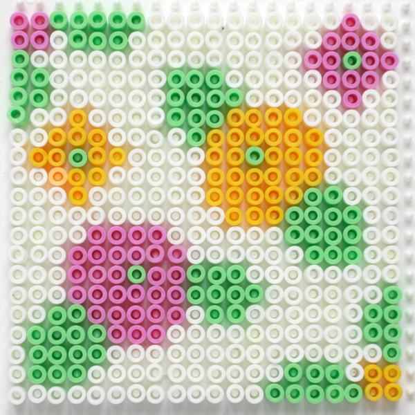 Make a Set of Vintage Floral Hama Bead Coasters