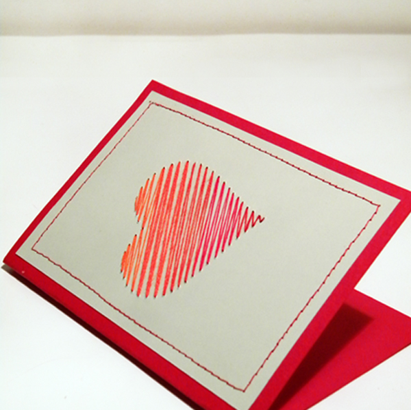 Create a Beautiful Hand-Embroidered Valentines Day Card