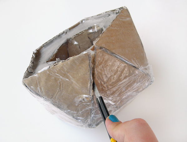 How To Make A Geo Faceted Cement Planter