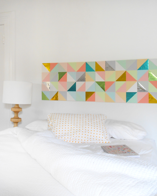 Diy wall art using foam board : Create a gorgeous geometric paper patchwork for your wall