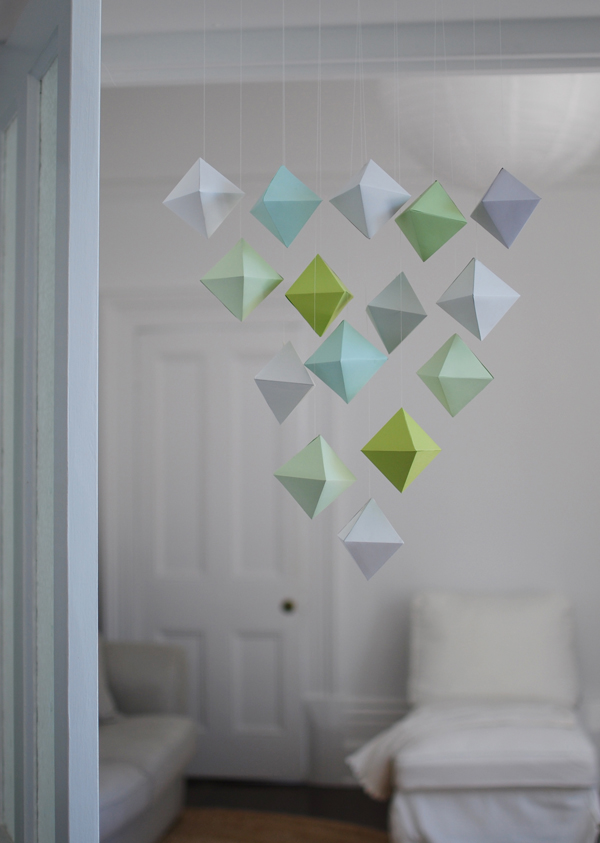 Make A Beautiful Paper Polyhedron Mobile
