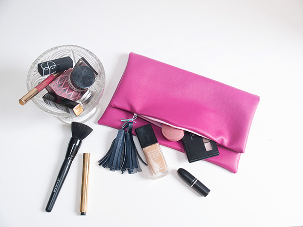 pouch as a makeup bag