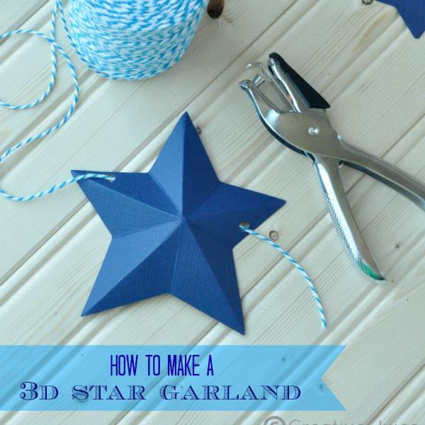 4th of July 3D Star Garland Tutorial