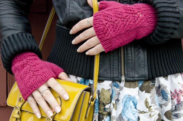 Knit A Pair Of Adorable Fingerless Mittens With Our Free Pattern