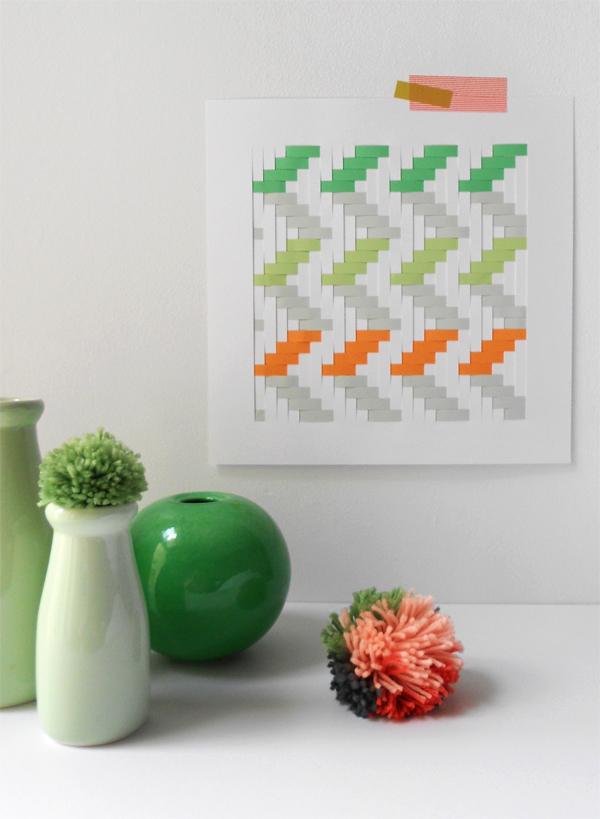 diy woven paper art