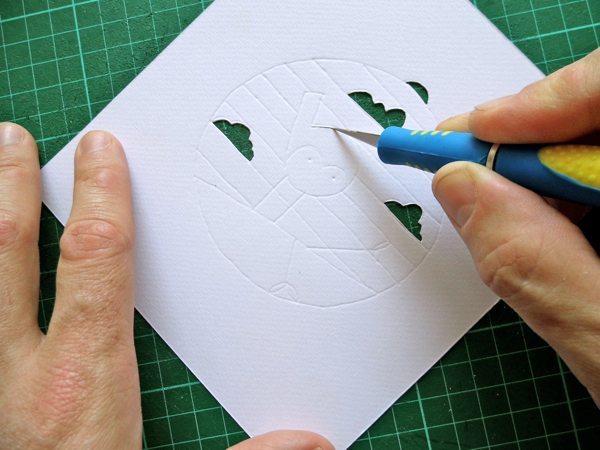 papercut bauble cutting curves
